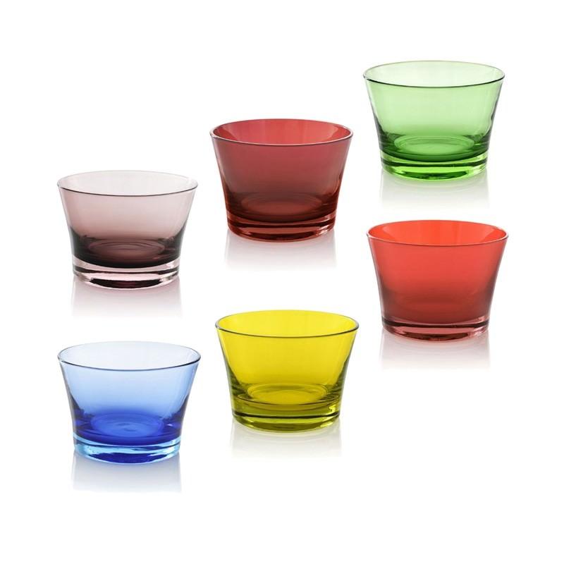 IVV Fantasy Handmade Coloured Glass Bowl - Set of 6
