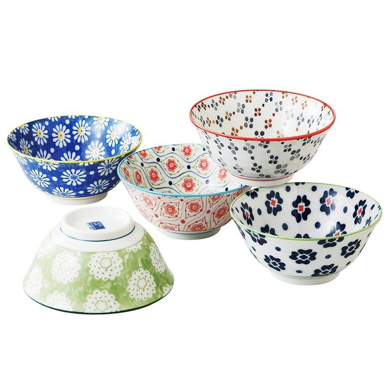 Mino Japan Table Talk 5 Piece 11.5cm Hana Bowl Set