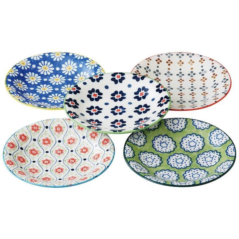 Mino Japan Table Talk 5 Piece 12cm Plate Set
