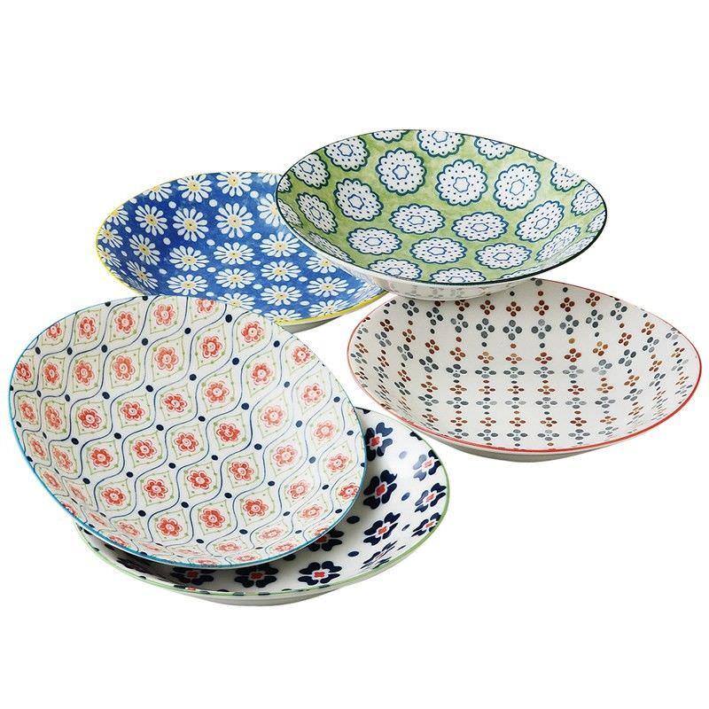 Mino Japan Table Talk 5 Piece 22cm Plate Set