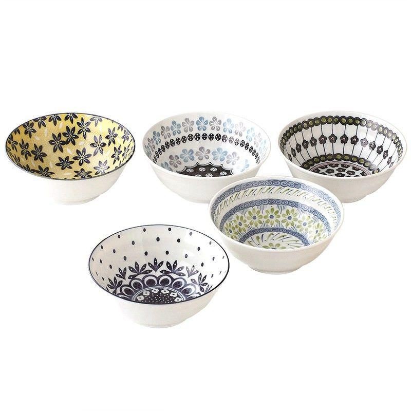 Mino Japan Table Talk 5 Piece 16cm Bowl Set