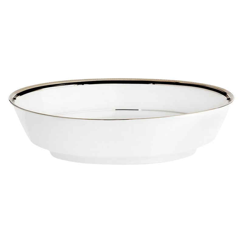 Noritake Toorak Noir Fine China Oval Serving Bowl