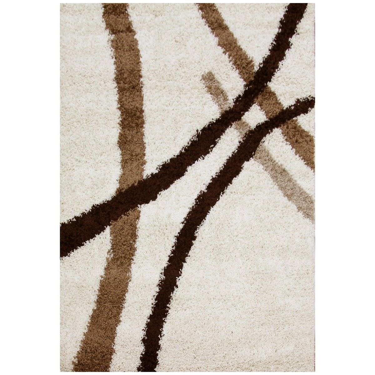 Notes Strokes Turkish Made Shag Rug, 330x240cm, Ivory