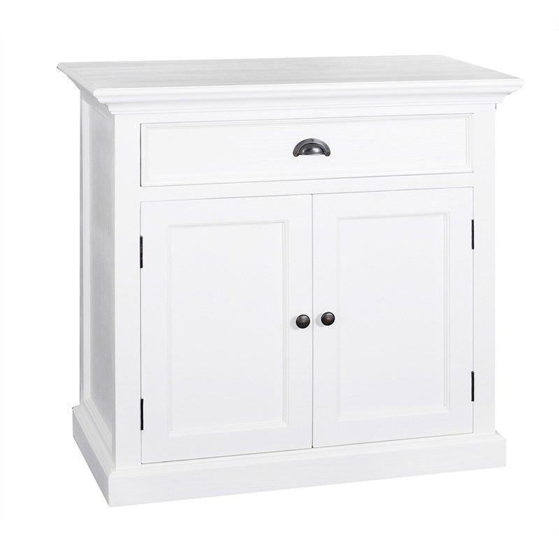 Halifax Mahogany Timber 2 Door 1 Drawer Buffet Table, 90cm