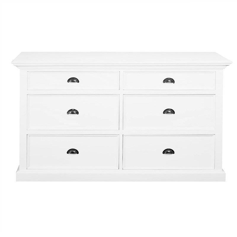 Halifax Solid Mahogany Timber 6 Drawer Dresser