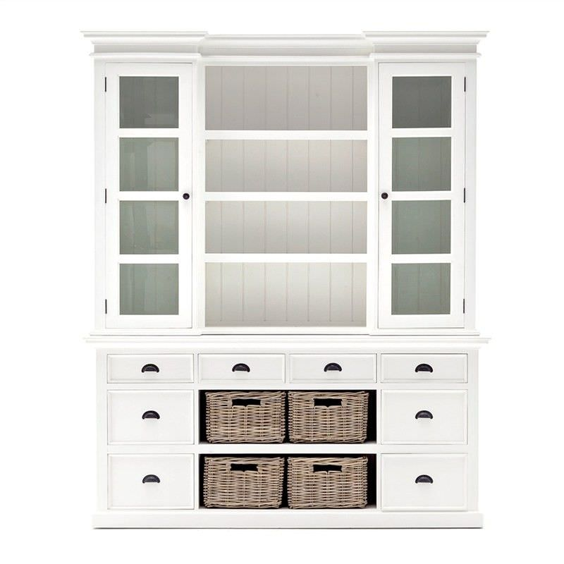 Halifax Grant Mahogany Timber Hutch Cabinet