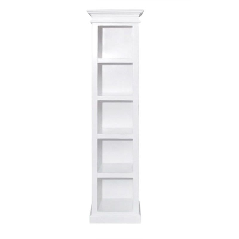 Halifax Solid Mahogany Timber Slim Book Shelf