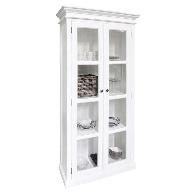 Halifax Solid Mahogany Timber 2 Door Display Cabinet / Cupboard