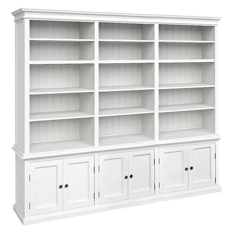 Halifax Solid Mahogany Timber Triple Hutch Bookcase