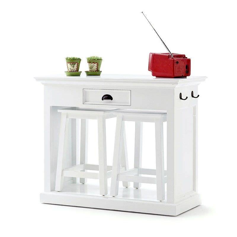 Halifax 3 Piece Solid Mahogany Timber Kitchen Bar Table Set