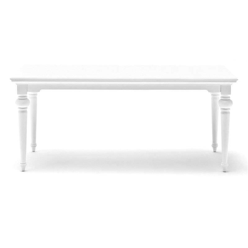 Provence Mahogany Timber Dining Table, 200cm