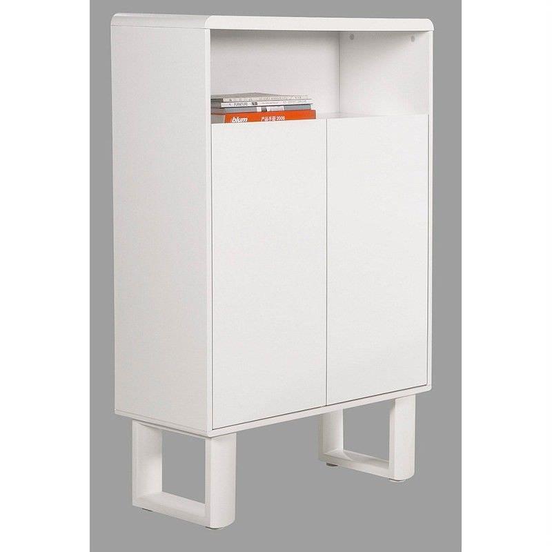 Neve 2 Door Tall Cabinet, Matt White