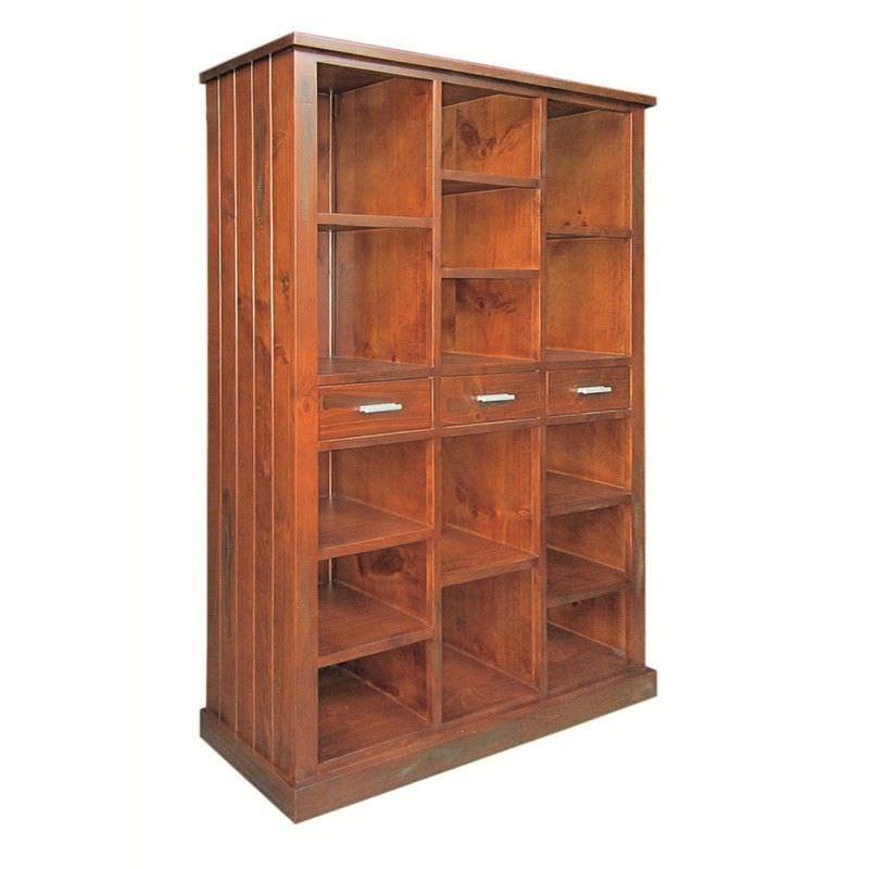 New York Solid Pine Timber Multipurpose Bookshelf