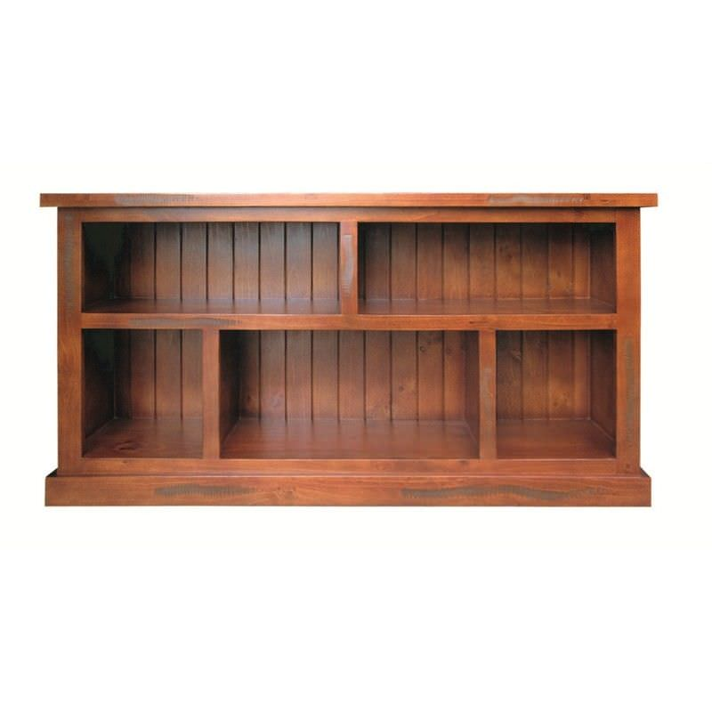 New York Solid Pine Timber Library Sofa Table / Display Unit