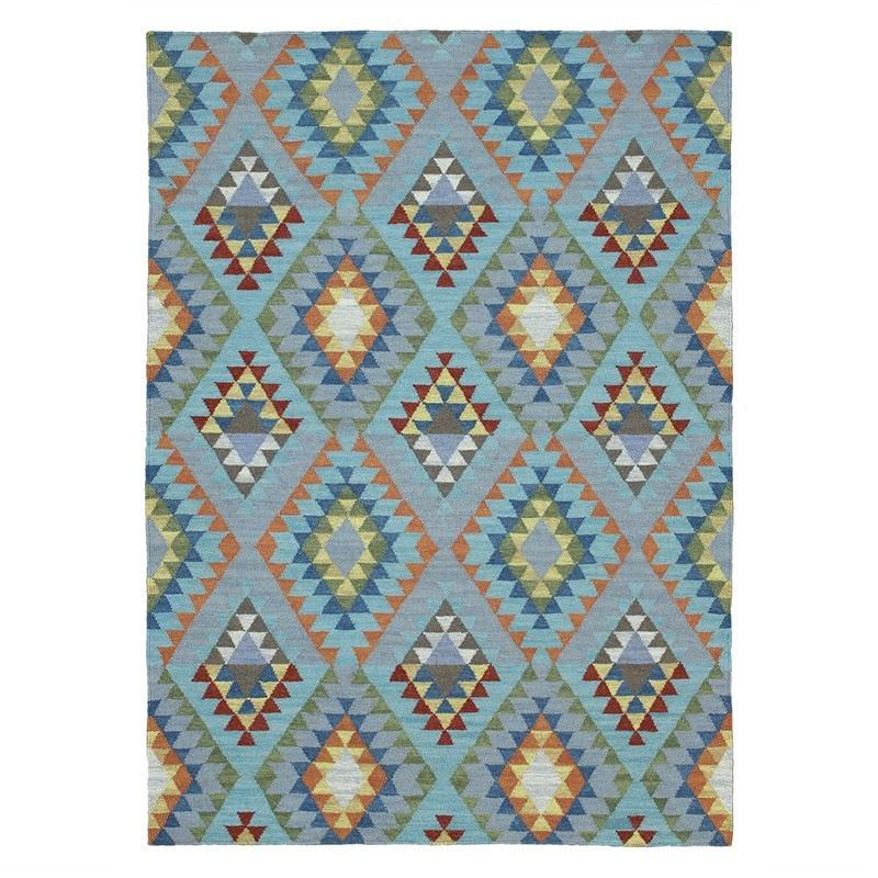 Nomad Hand Woven Wool Rug, 220x320cm, Blue