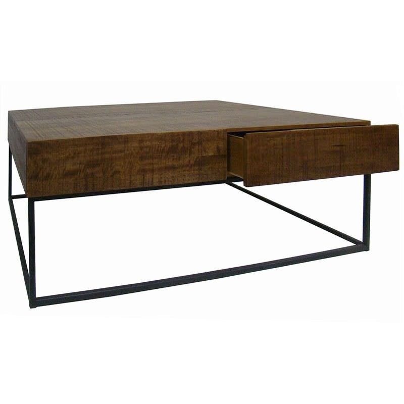 Shotton Solid Timber & Metal Coffee Table
