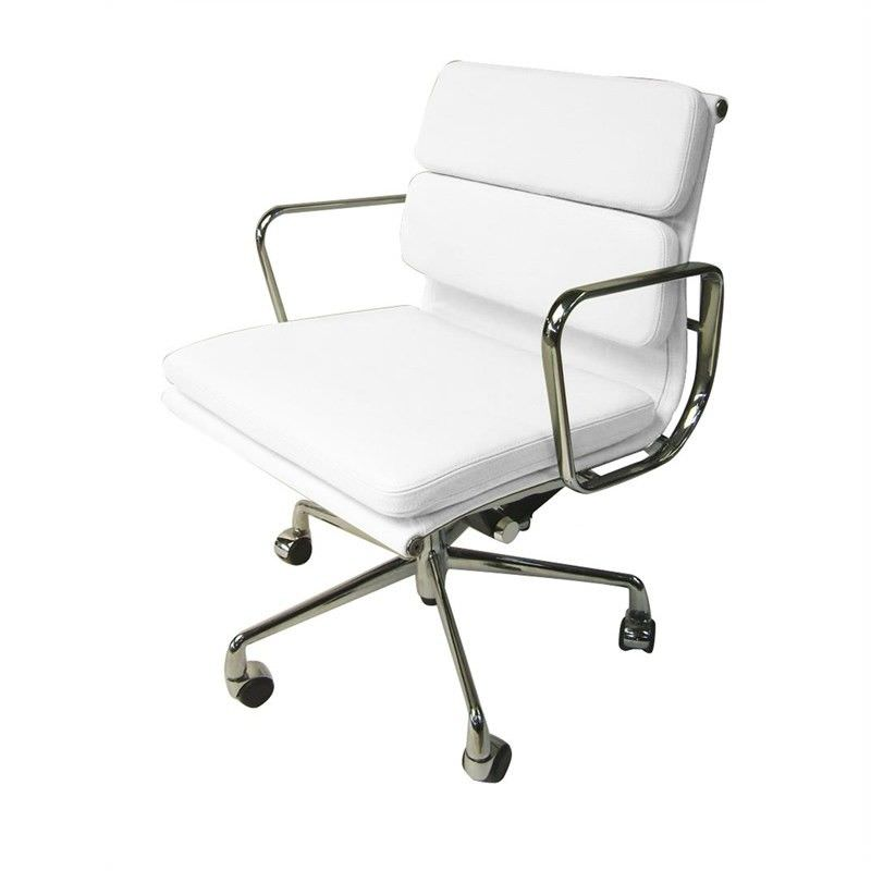 Soft Pad Management Eames Replica Office Chair - White Premium