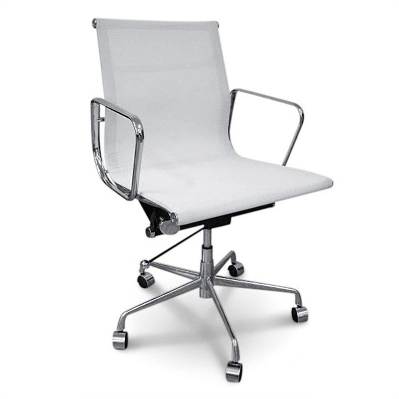 Mesh Management Eames Office Chair - White Premium