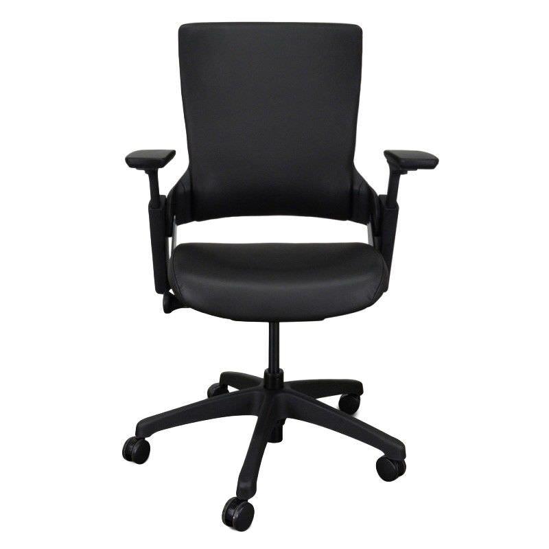 Merna PU Leather Ergonomic Office Chair, Black