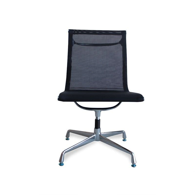 Mesh Visitor Chair - Black-Fixed Base - No Arms