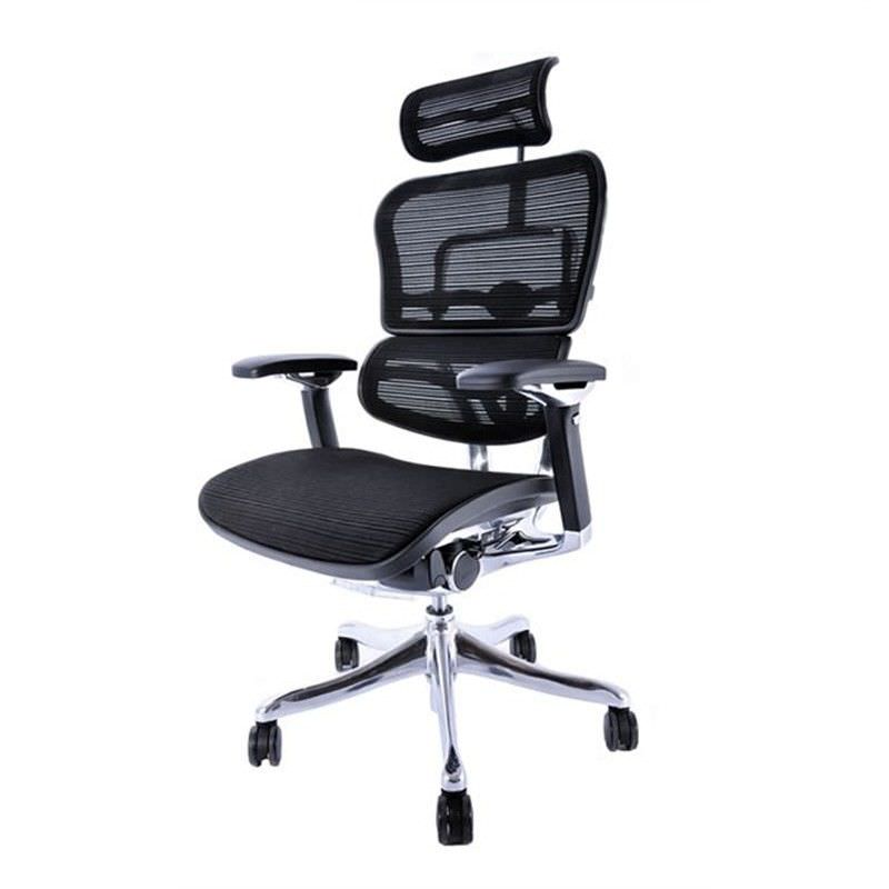 Ergohuman Plus Deluxe V2 High Back - Black Mesh Office Chair