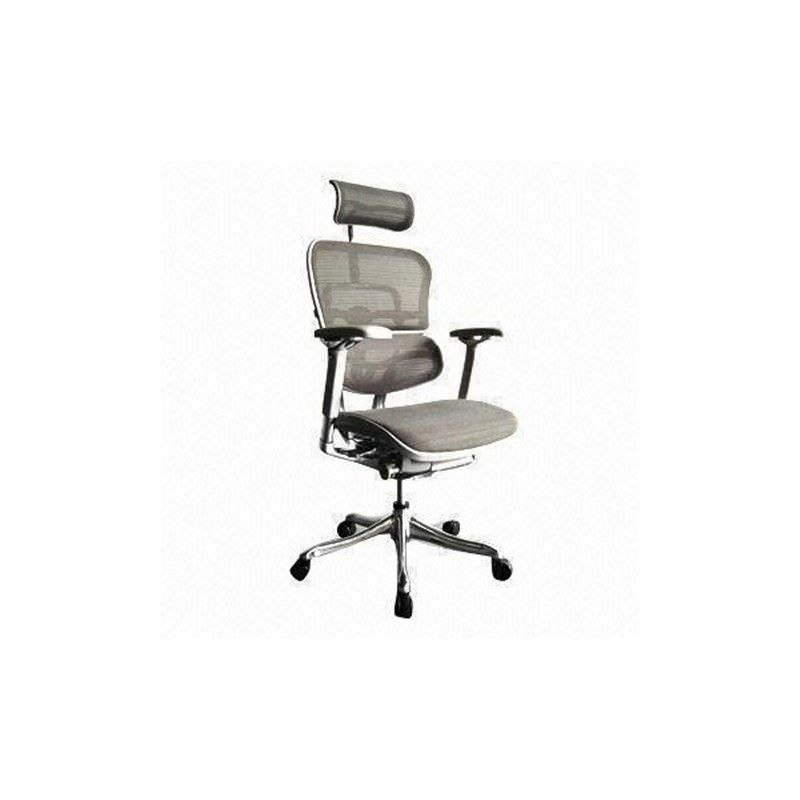 Ergohuman Plus Deluxe V2 High Back - Grey Mesh Office Chair