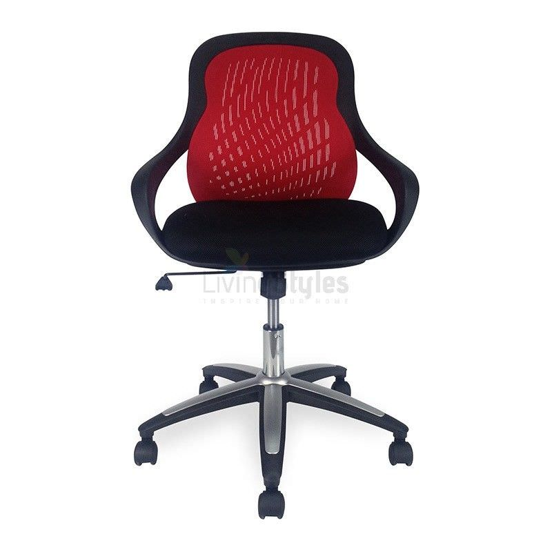 Evo Red Mesh Office Chair