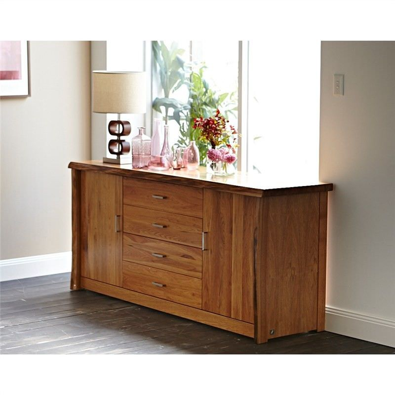 Adrian Solid Chestnut Timber 2 Door 4 Drawer 185cm Buffet Table
