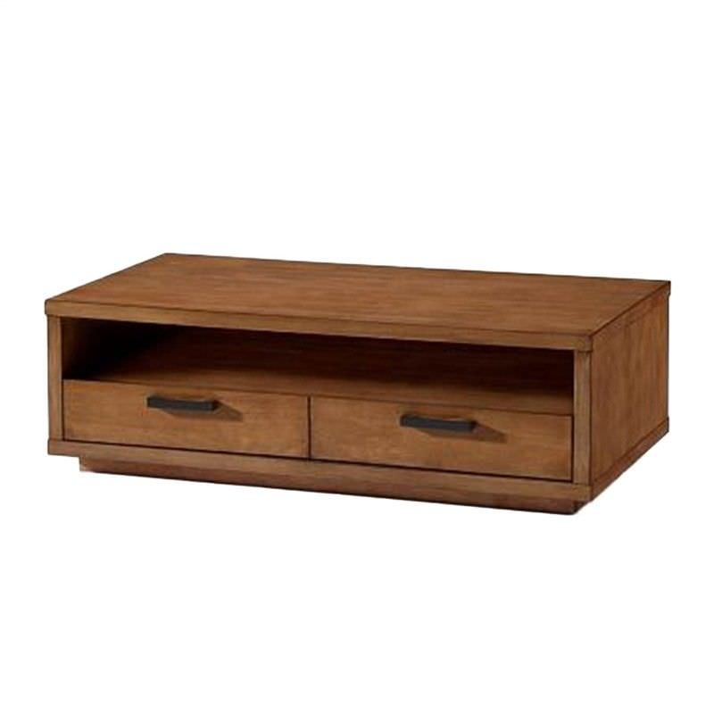 Austell Solid Hardwood Timber Coffee Table, 120cm