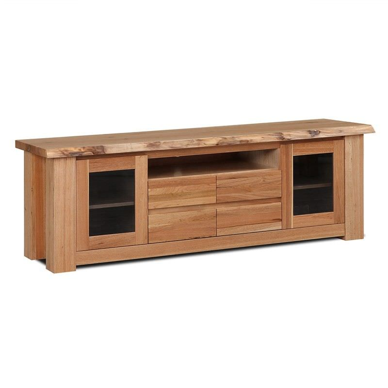 Fairlie Solid Chestnut Timber 2 Door 4 Drawer 195cm TV Unit