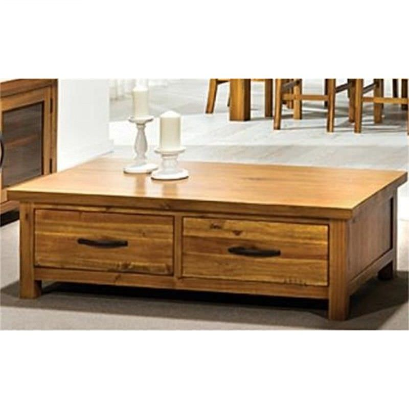 Patton Acacia Timber 2 Drawer Coffee Table
