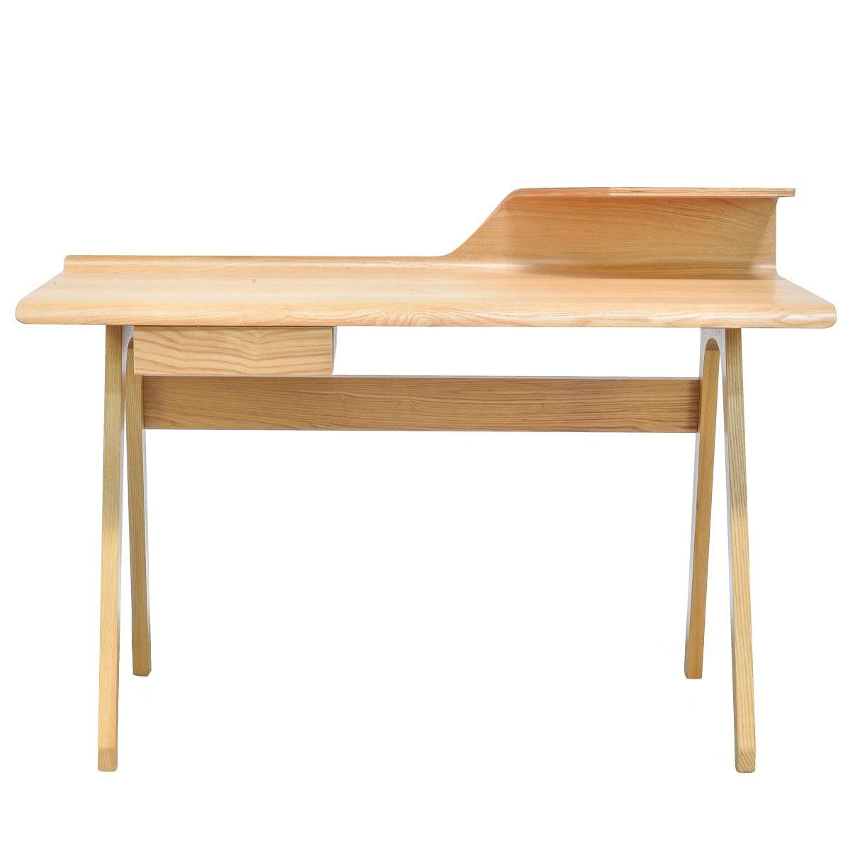 Rine Wooden Writing Desk, 125cm, Natural
