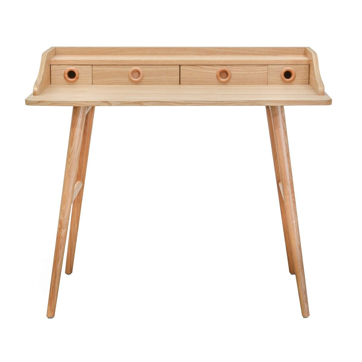 Venessa Wooden Secretary Desk, 100cm, Natural