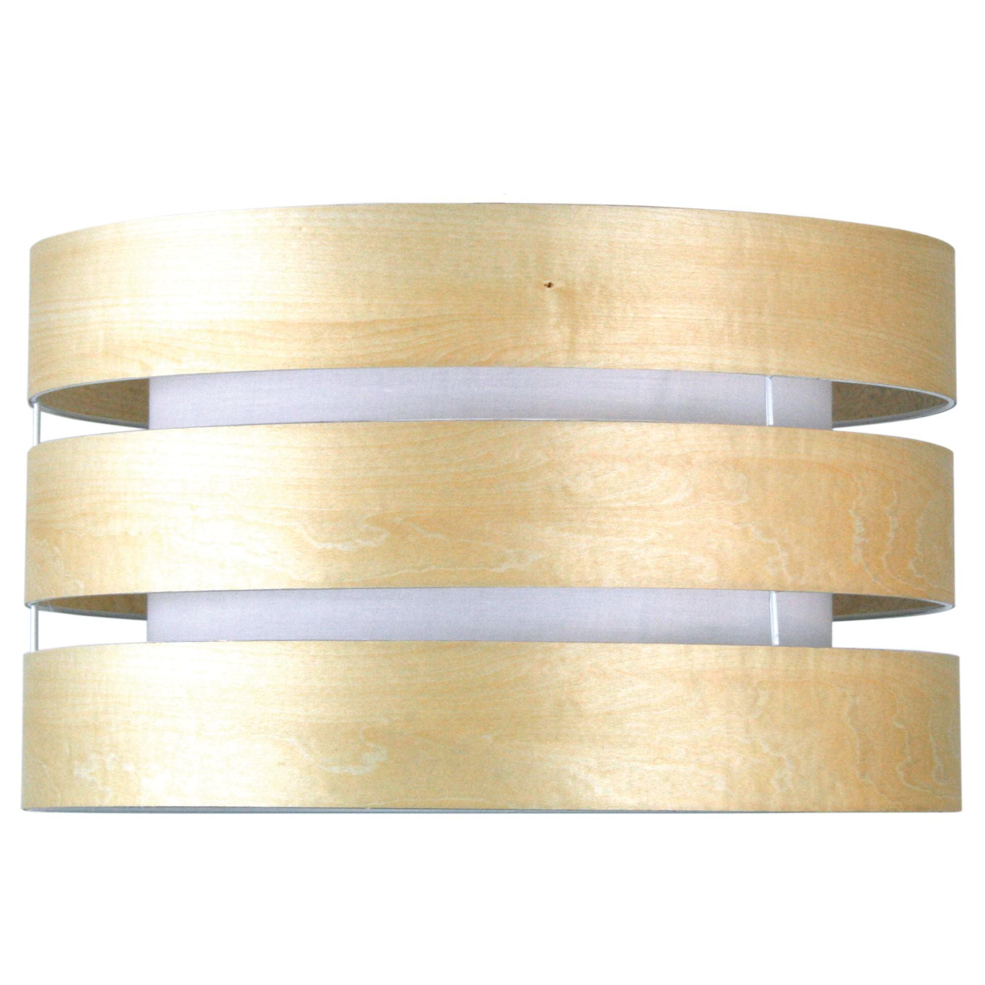 Taho Timber Slated Pendant Light Drum Shade, Beech