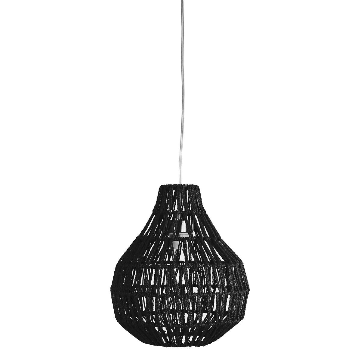 Cooper Woven String Pendant Light Shade Only, 30cm, Black