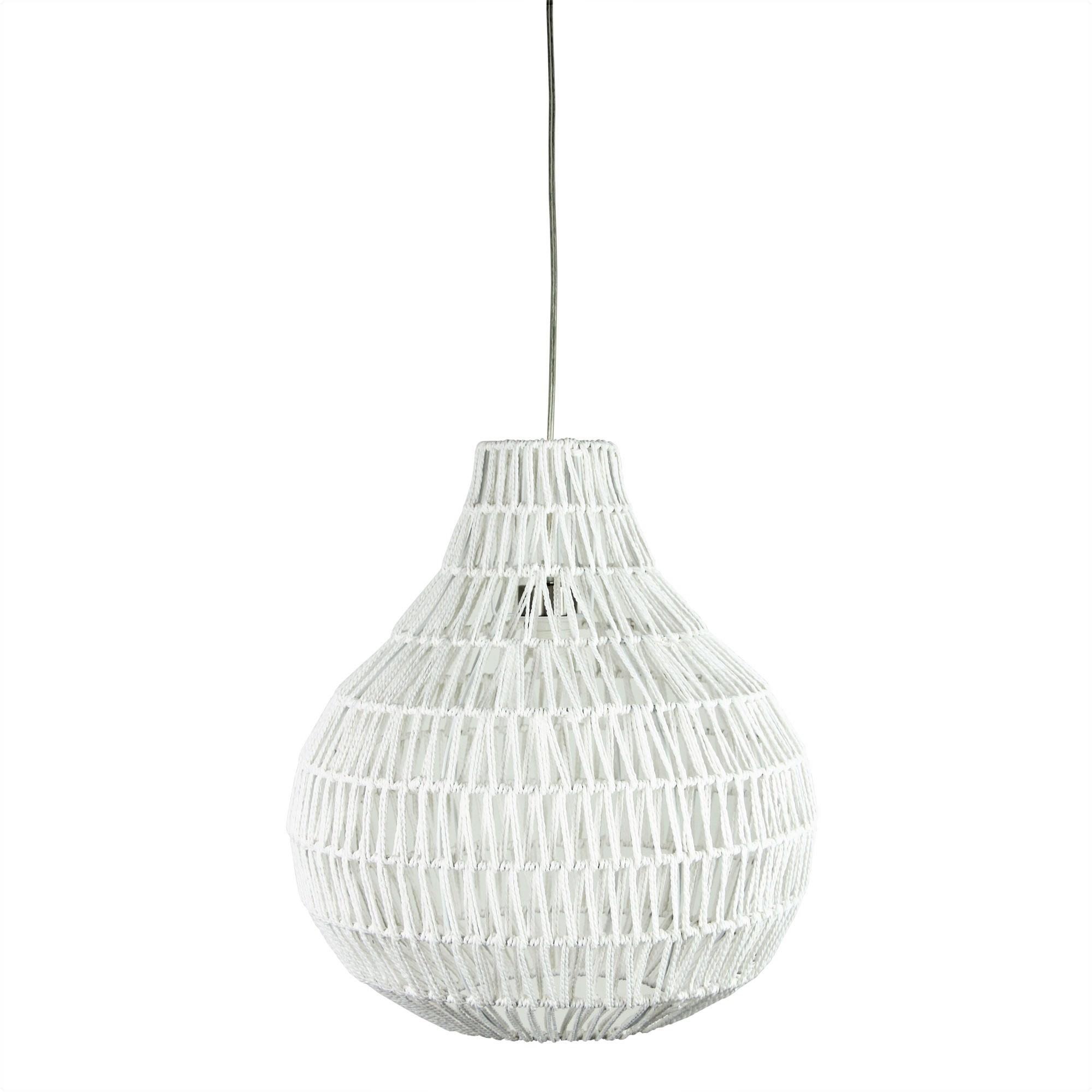 Cooper Woven String Pendant Light Shade Only, 45cm, White