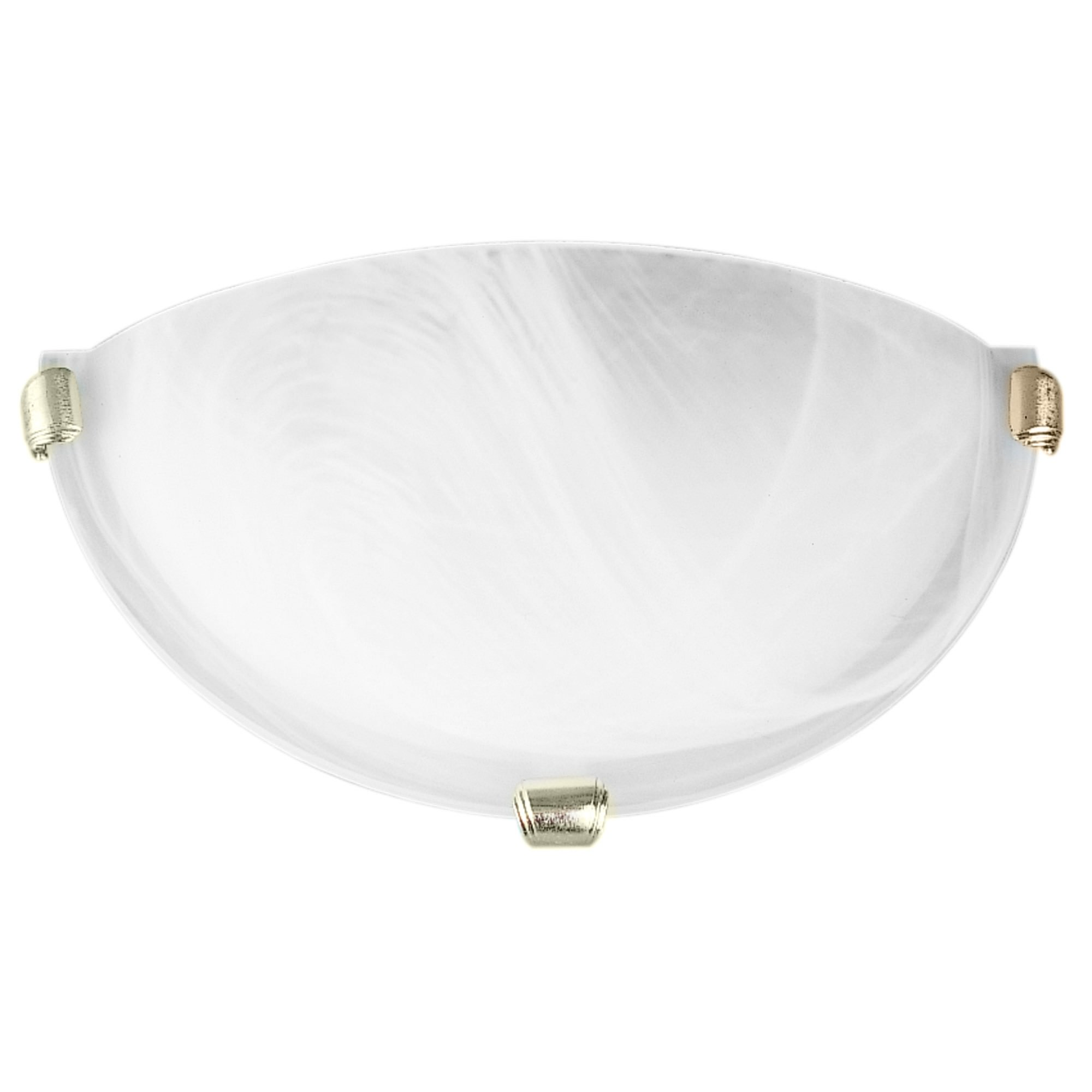 Remo Alabaster Glass Wall Light, Gold