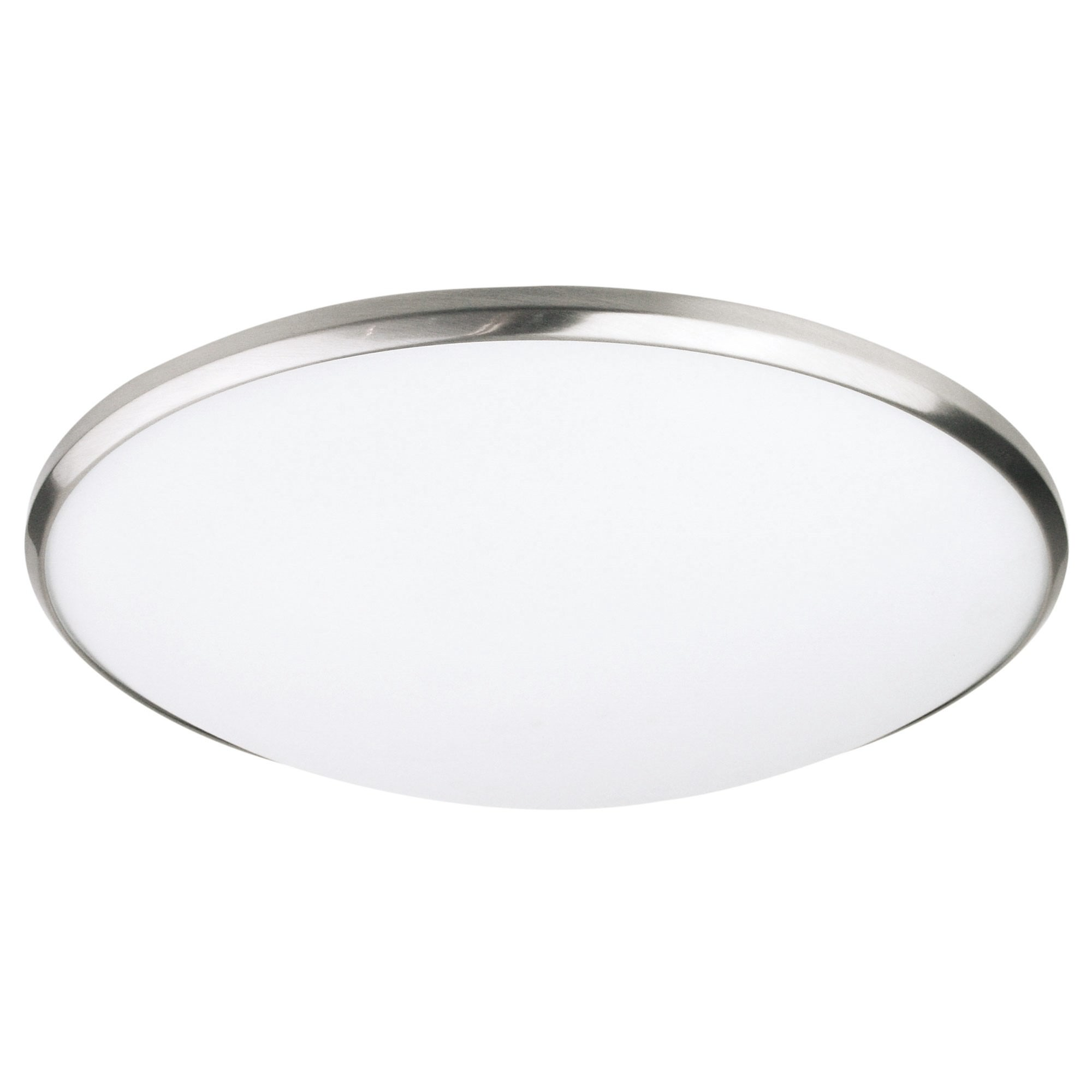 Luma Frosted Glass Oyster Light, 30cm