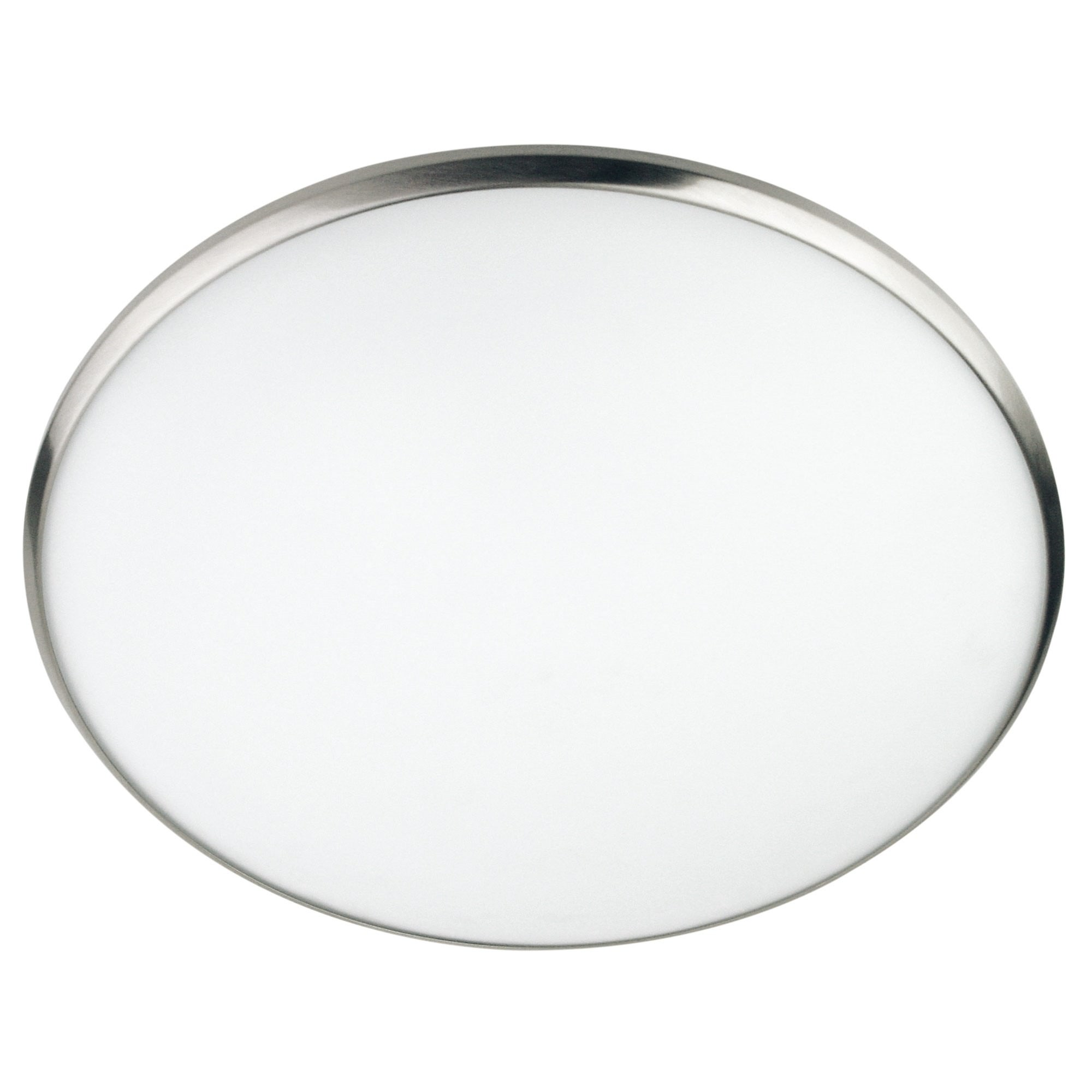 Luma Frosted Glass Oyster Light, 40cm