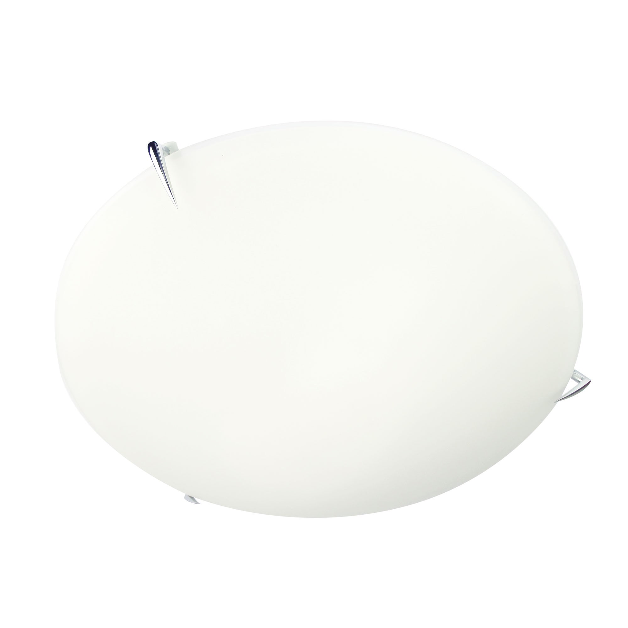 Claw Opal Glass Oyster Light, 40cm