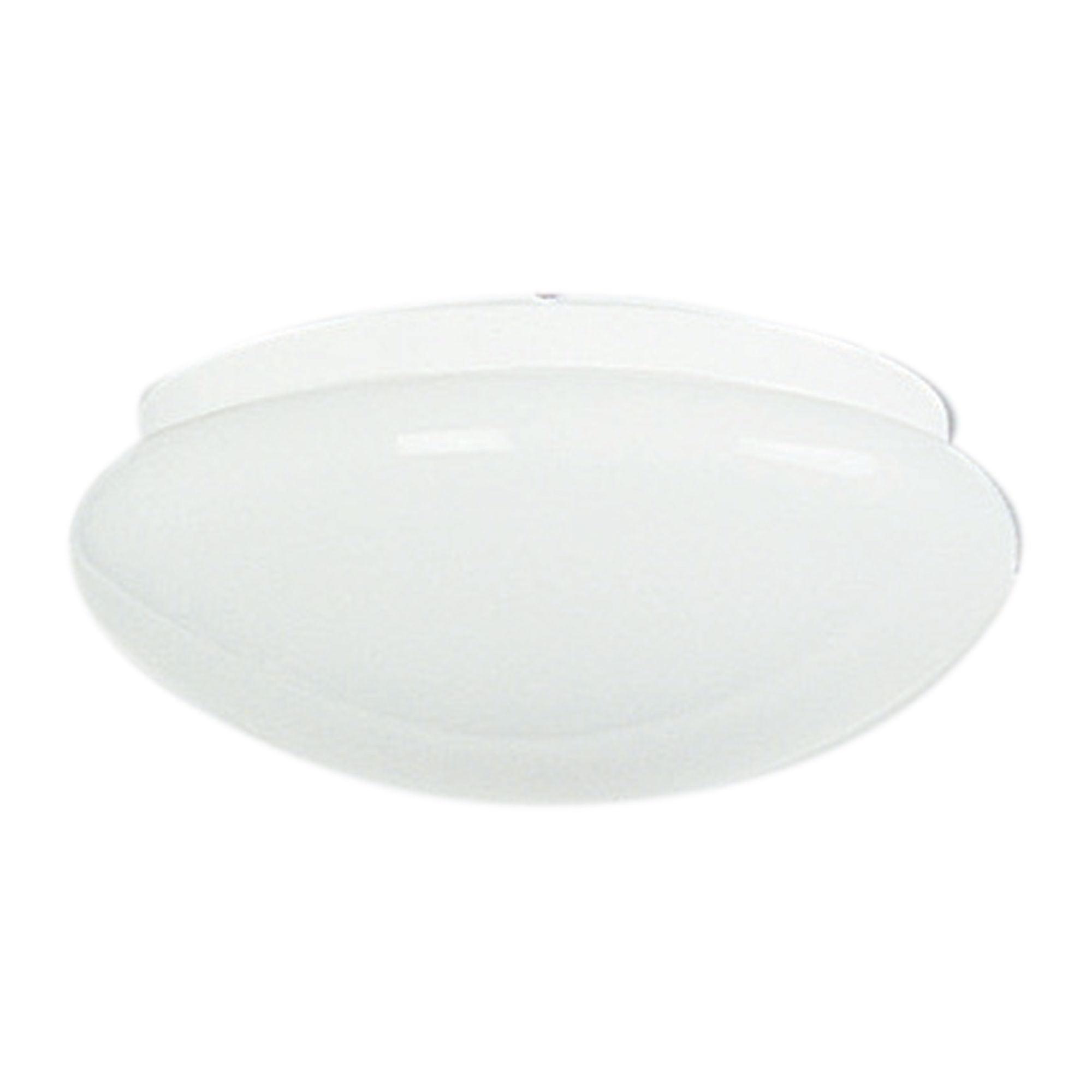 Clipper Opal Glass Oyster Light, 23cm, White