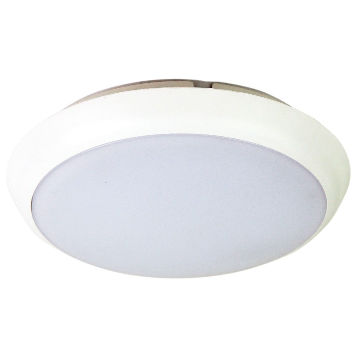 Kore IP54 Indoor / Outdoor Colour Changing LED Oyster Light, 20cm, White