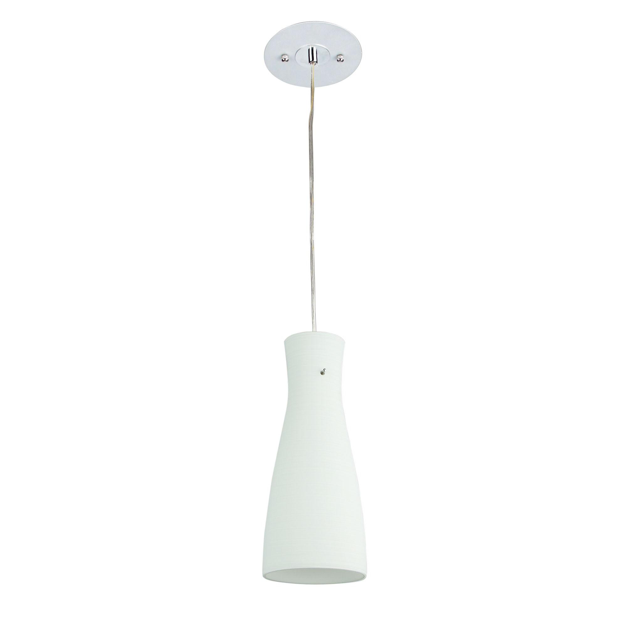 Cleo Glass Pendant Light, White
