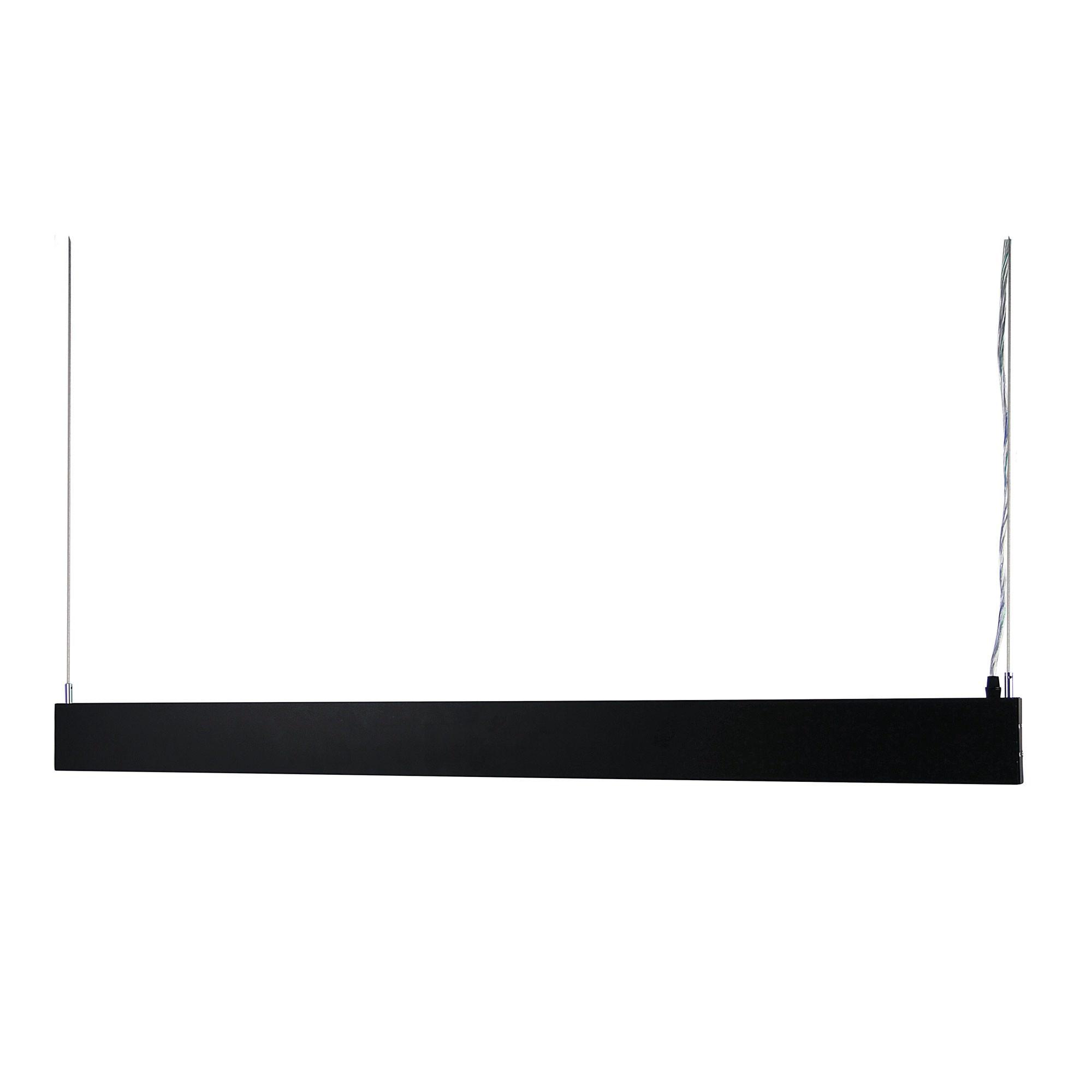 Slate Linear LED Pendant Light, 118cm, Black
