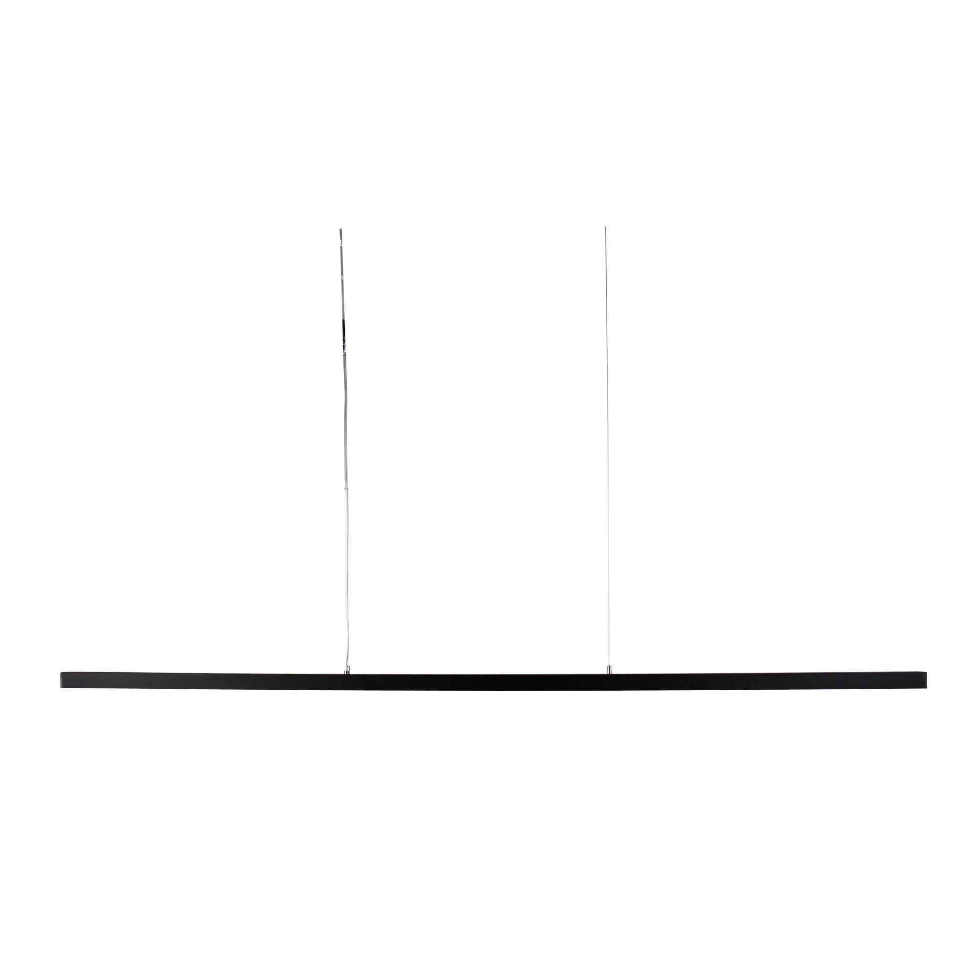 Shard Slimeline LED Pendant Light, 150cm, Black