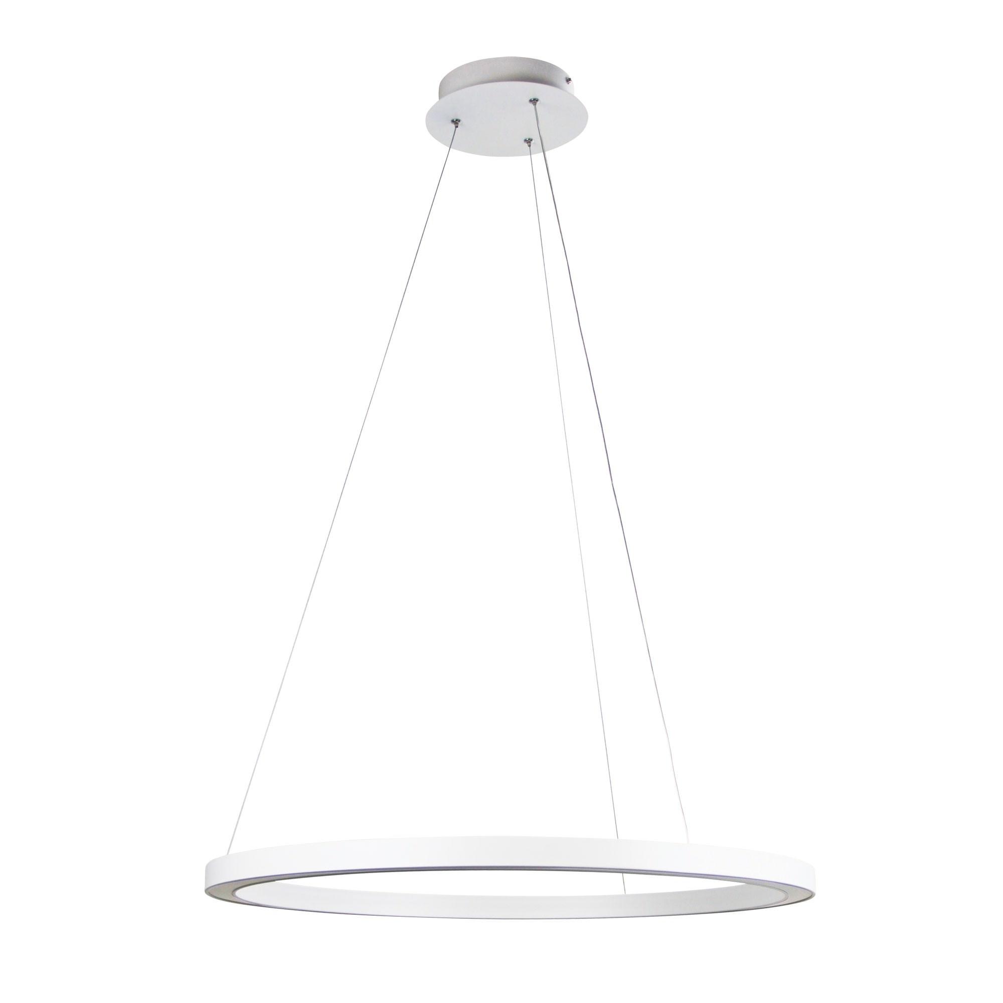 Nimbus LED Halo Ring Pendant Light, 60cm, White