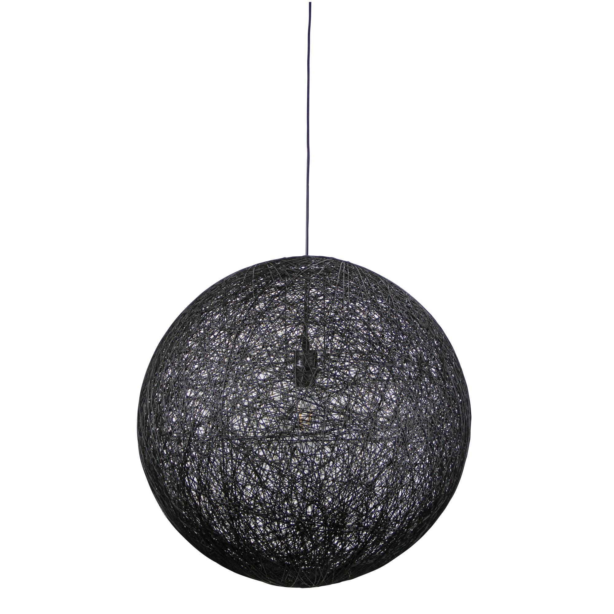 Kono Woven String Pendant Light 60cm Black
