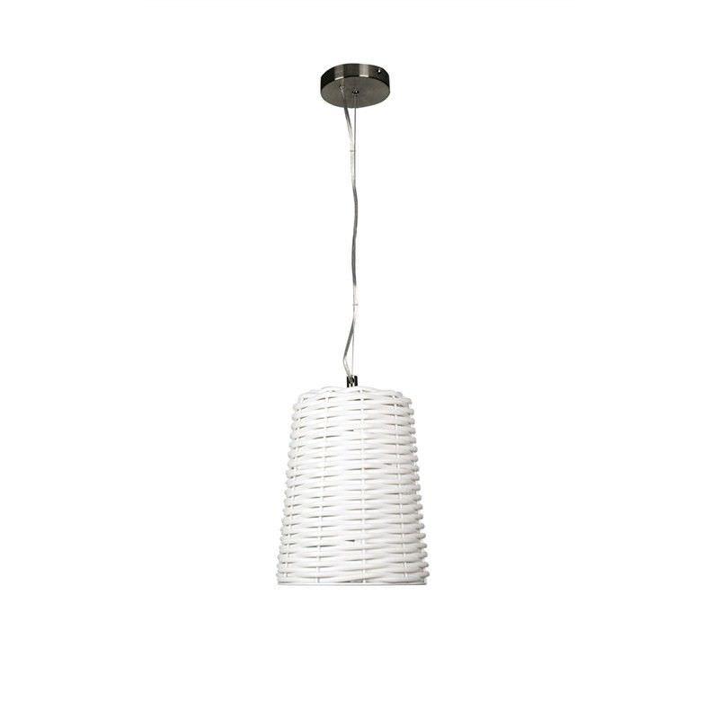Moreton White Pvc Complete Pendant Light - 25cm (Oriel Lighting)