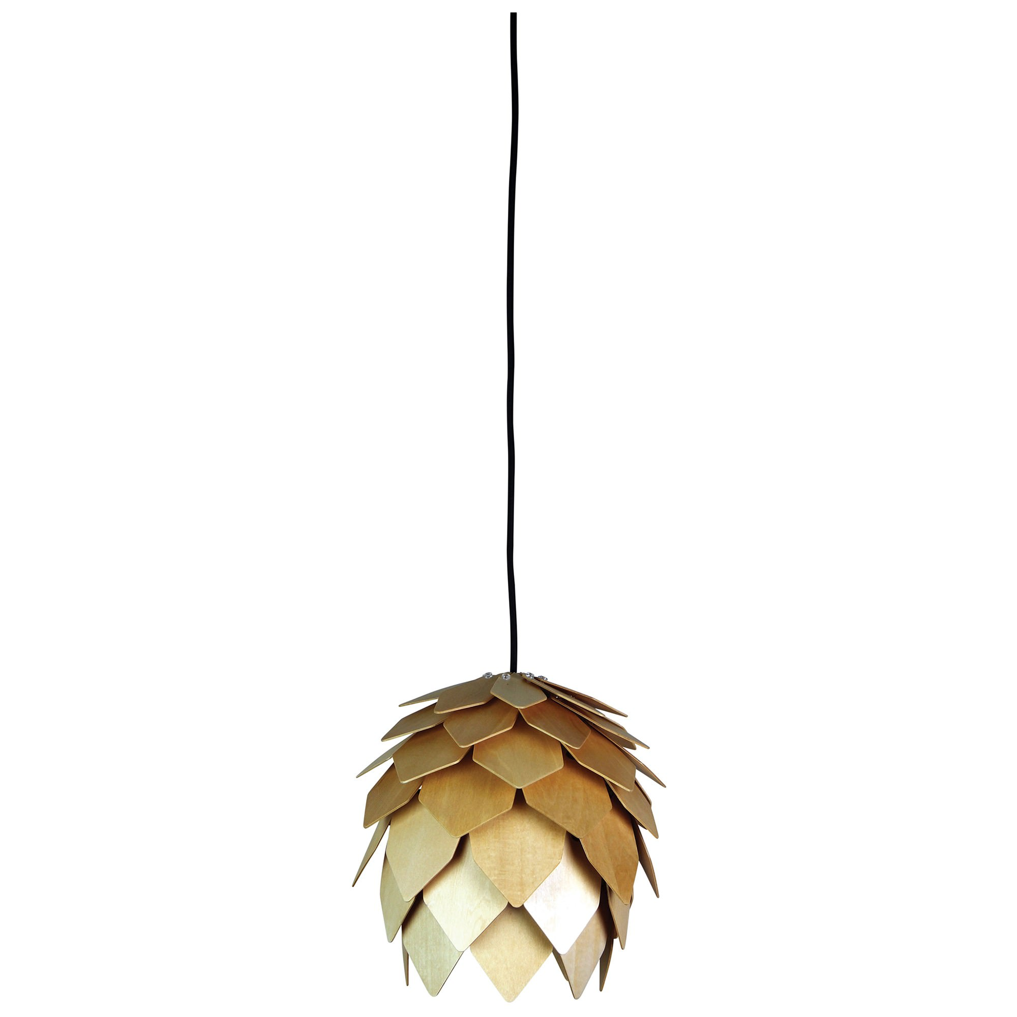 Acorn Handcrafted Timber Pendant Light, 25cm