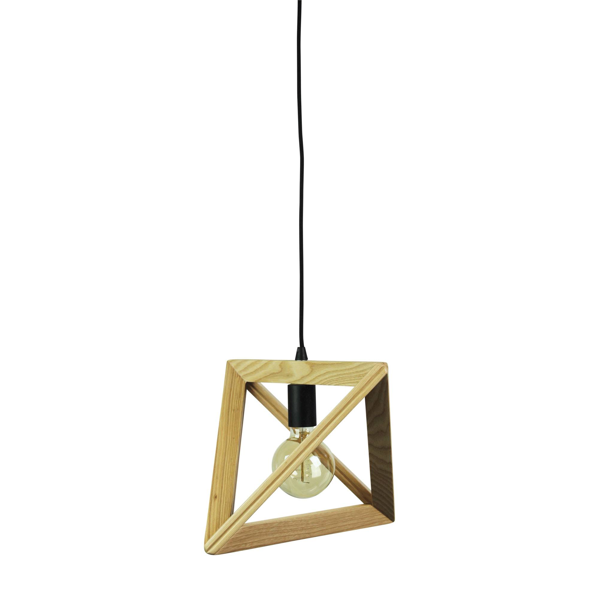 Trap II Geometric Timber Pendant Light